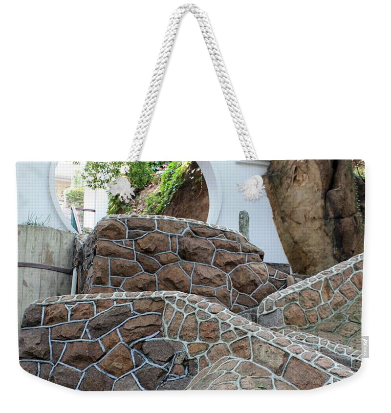 Moon Gate Weekender Tote Bag featuring the photograph Qingdao Moon Gate by Carol Groenen
