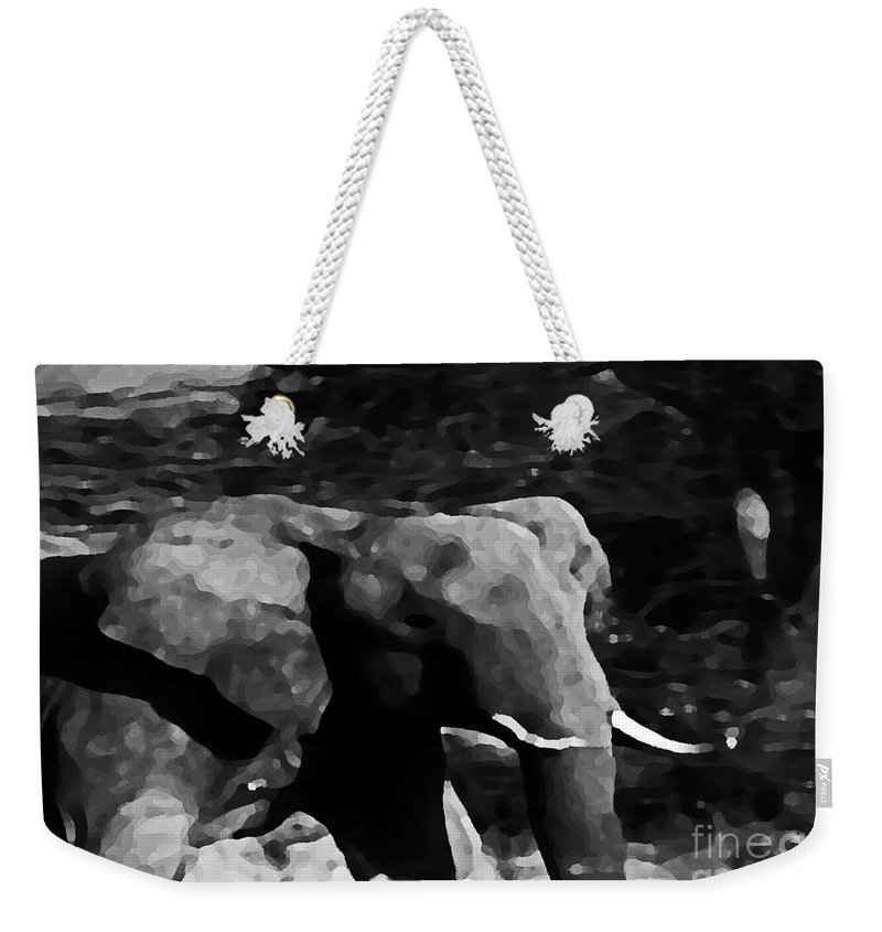 Wildlife Weekender Tote Bag featuring the digital art Qn The Move by Don Baker