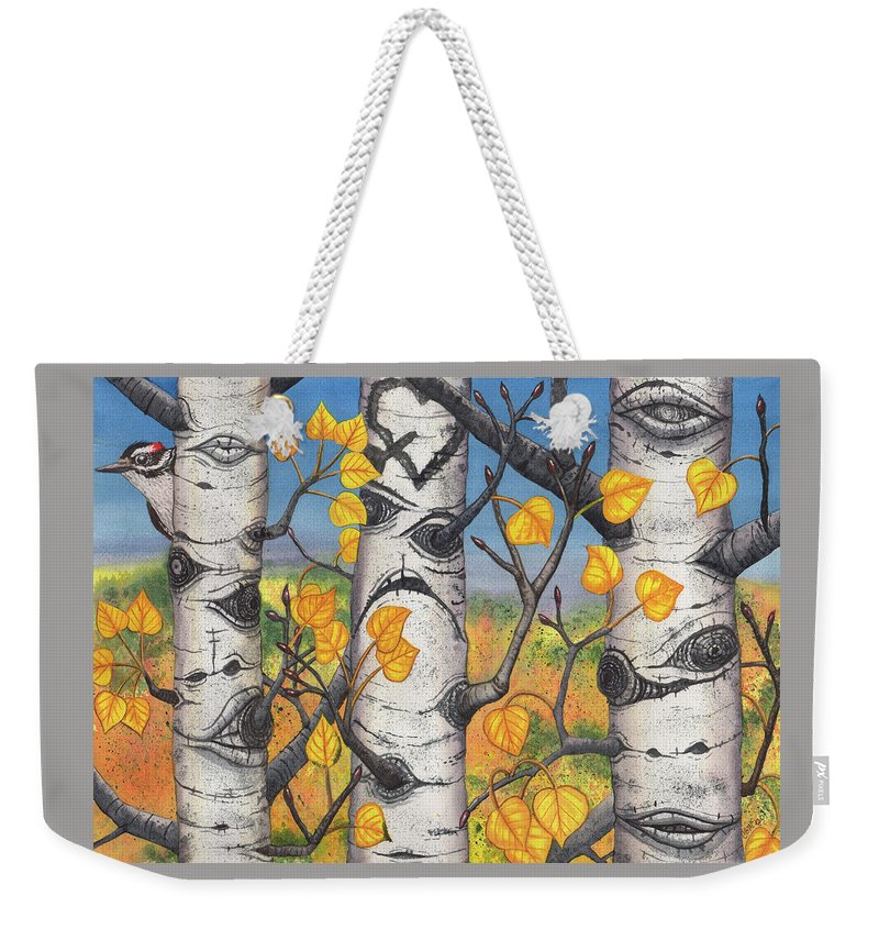 Aspen Weekender Tote Bag featuring the painting Quakers by Catherine G McElroy