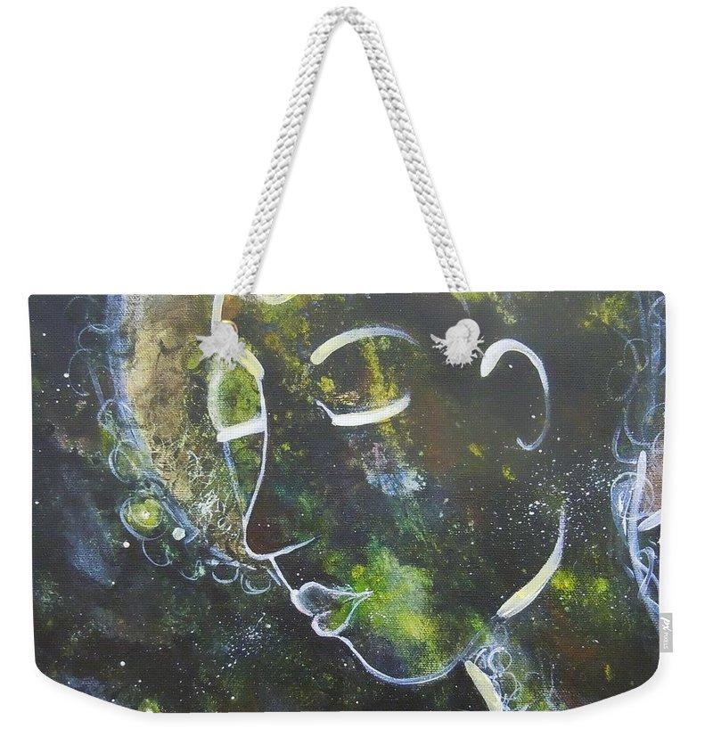 Quan Yin Weekender Tote Bag featuring the painting Quan Yin by Tonya Henderson