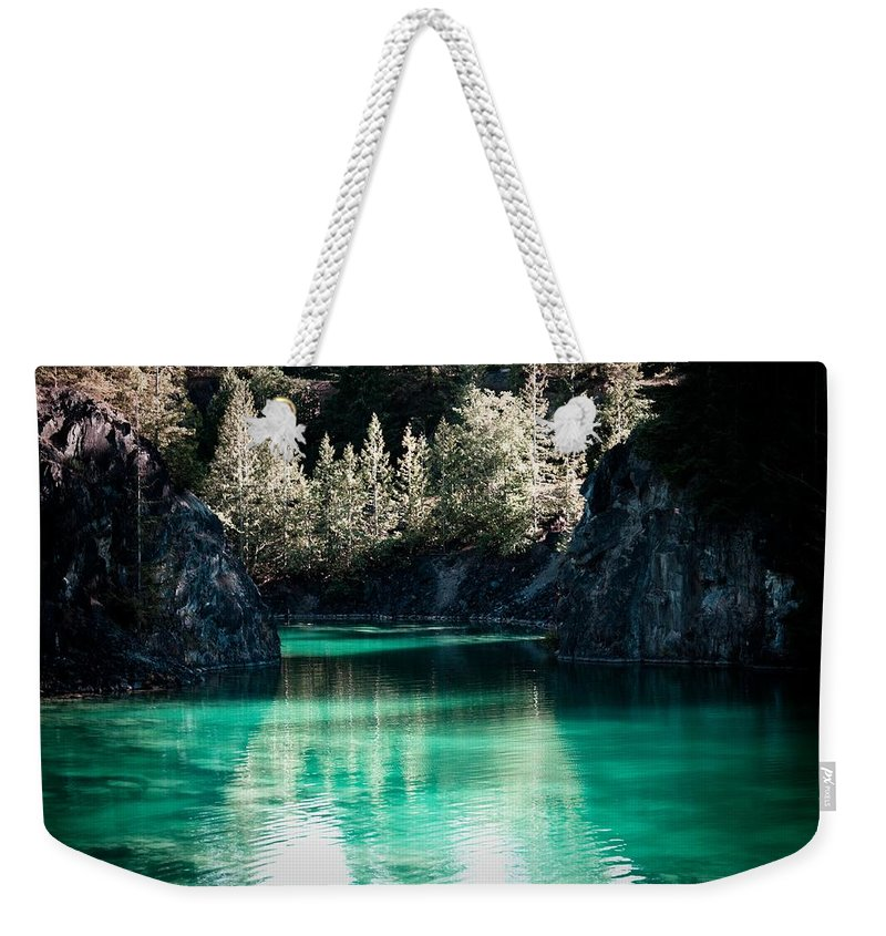 Quarry Weekender Tote Bag featuring the photograph Quarry Waters by Danielle Silveira