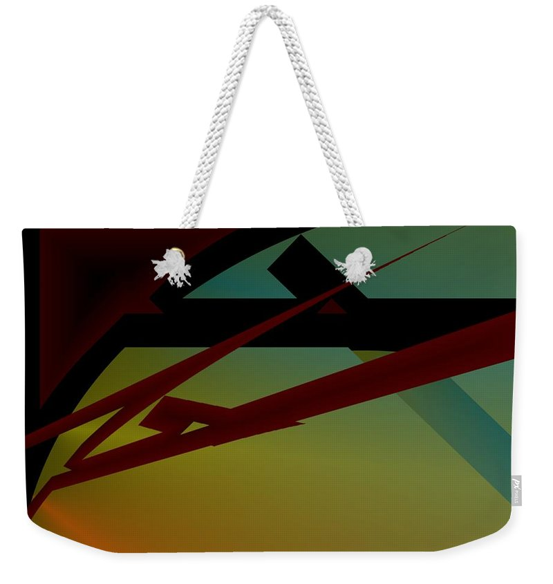 Quarter Weekender Tote Bag featuring the digital art Quarter by Helmut Rottler