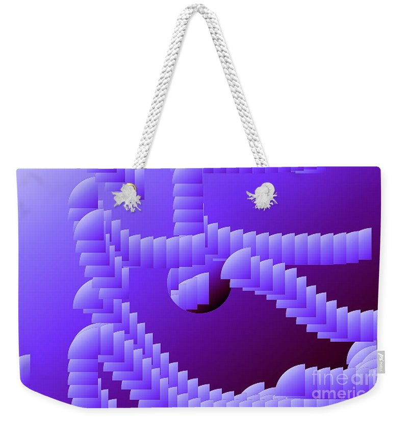Digital Weekender Tote Bag featuring the digital art Quarter Shell by Ron Bissett