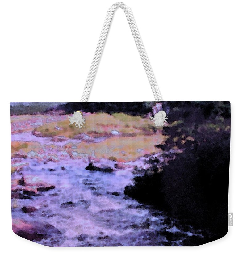 Quebec Weekender Tote Bag featuring the photograph Quebec River by Ian MacDonald