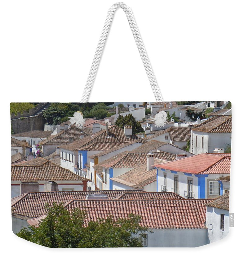Europe Weekender Tote Bag featuring the photograph Queen Isabella's Castle Portugal by Heather Coen