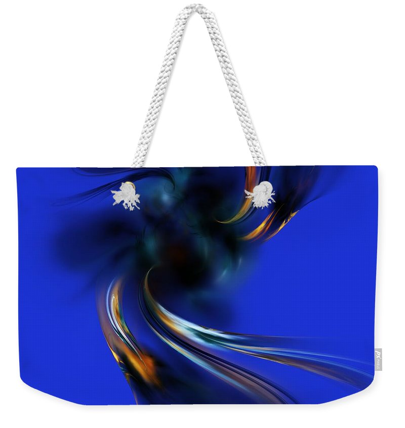 Digital Painting Weekender Tote Bag featuring the digital art Queen Maub's Emergence From The Nevernever by David Lane