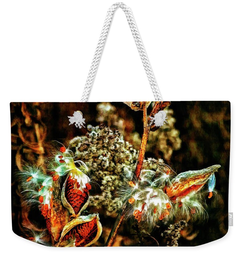 Milkweed Weekender Tote Bag featuring the photograph Queen Of The Ditches II by Steve Harrington