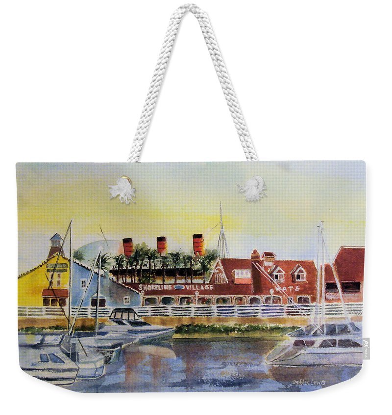 Watercolor Weekender Tote Bag featuring the painting Queen Of The Shore by Debbie Lewis