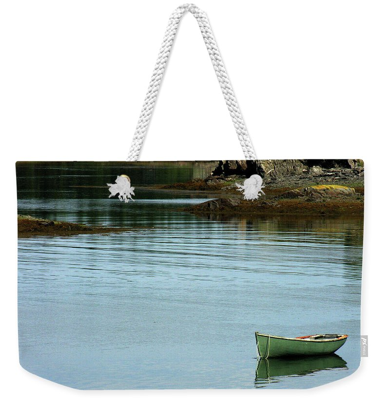 Boats Weekender Tote Bag featuring the photograph Quiet Cove by Joseph Castiglioni
