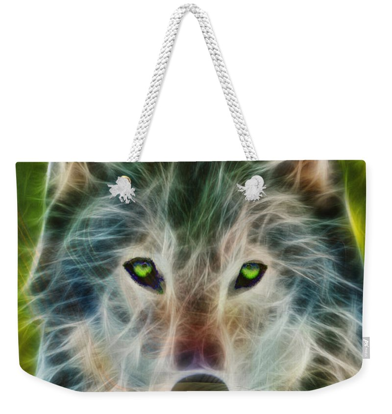 Quiet Majesty - Fractalized Version Weekender Tote Bag featuring the digital art Quiet Majesty - Fractalized Version by John Beck