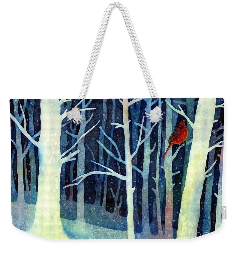 Northern Cardinal Weekender Tote Bags