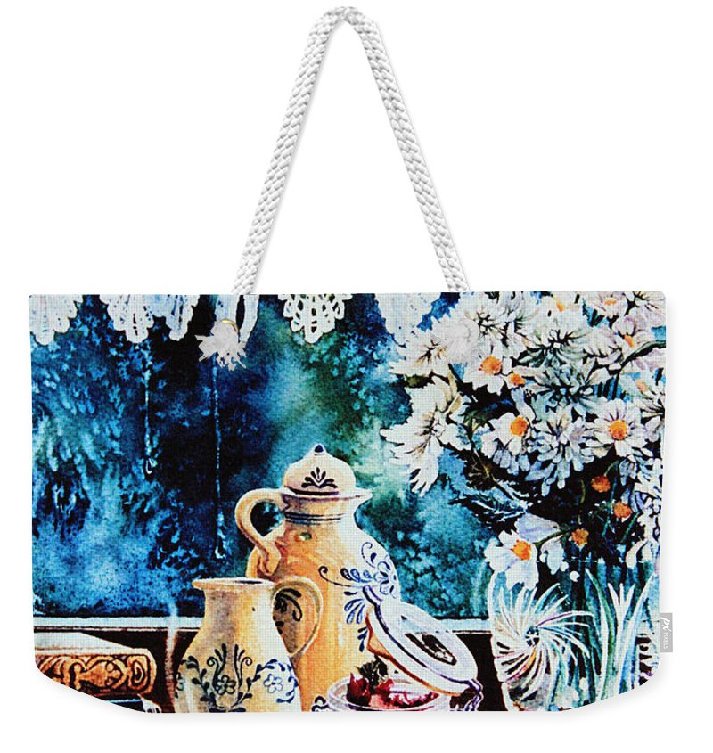 Quiet Morning Print Weekender Tote Bag featuring the painting Quiet Morning by Hanne Lore Koehler