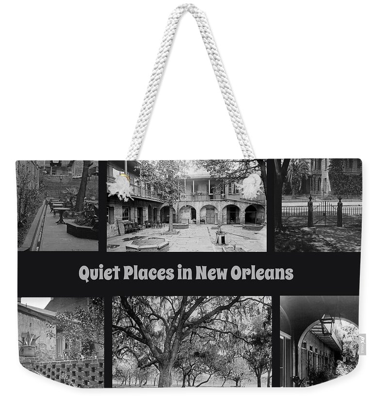 Quiet New Orleans Weekender Tote Bag featuring the painting Quiet New Orleans by John Malone