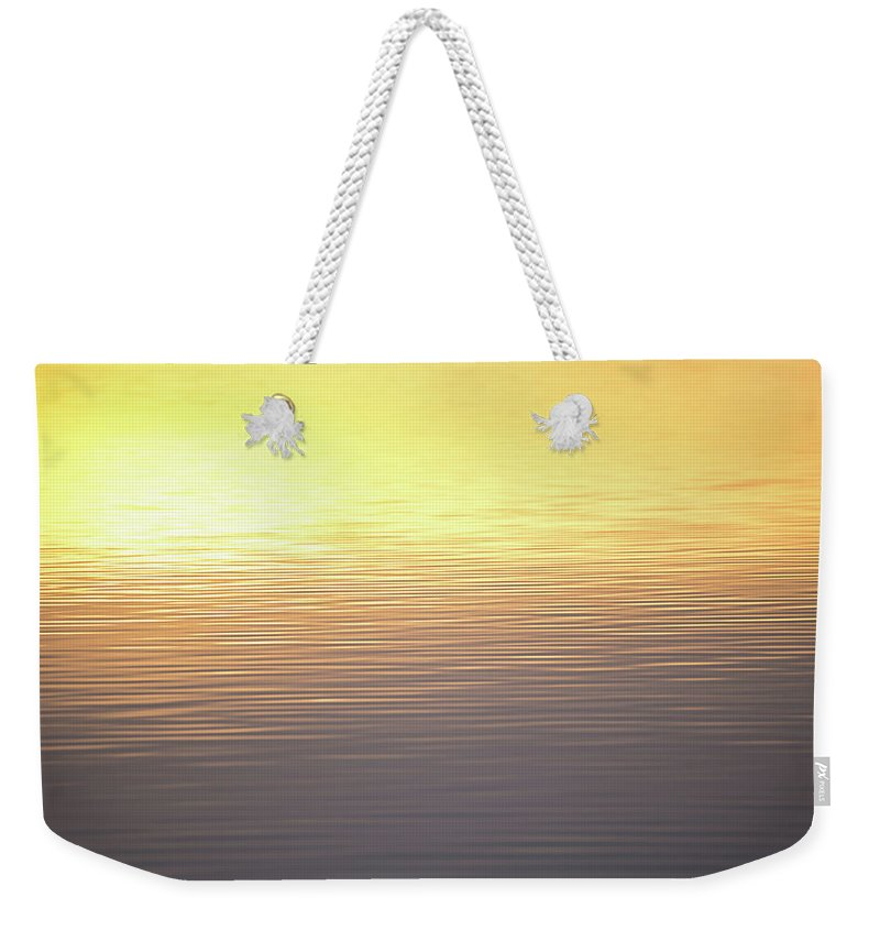Sunset Weekender Tote Bag featuring the photograph Quiet Reflection by Penny Meyers