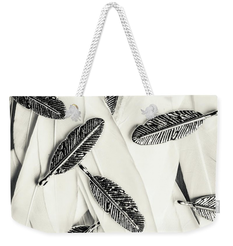 Feather Weekender Tote Bag featuring the photograph Quills Of A Feather by Jorgo Photography - Wall Art Gallery