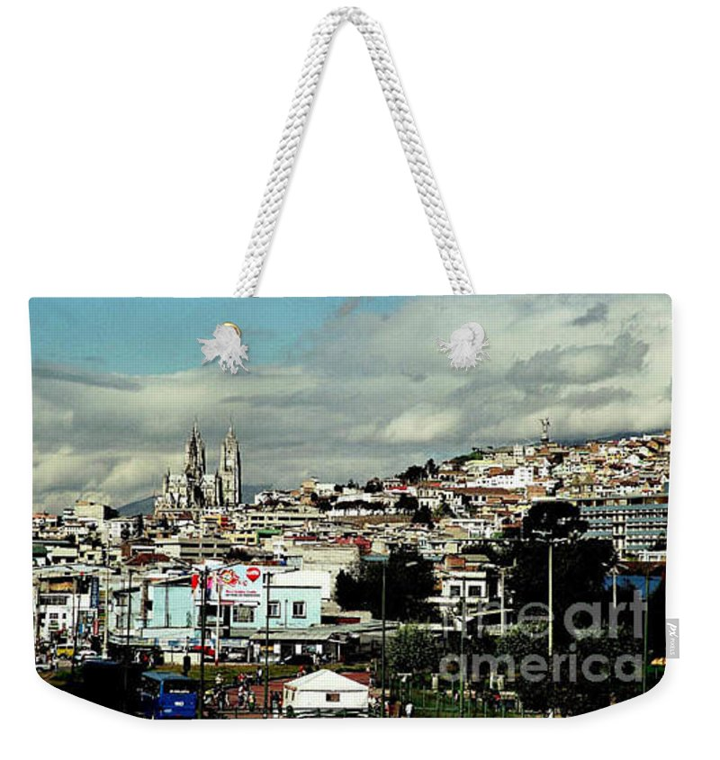 Ecuador Weekender Tote Bag featuring the photograph Quito by Kathy McClure