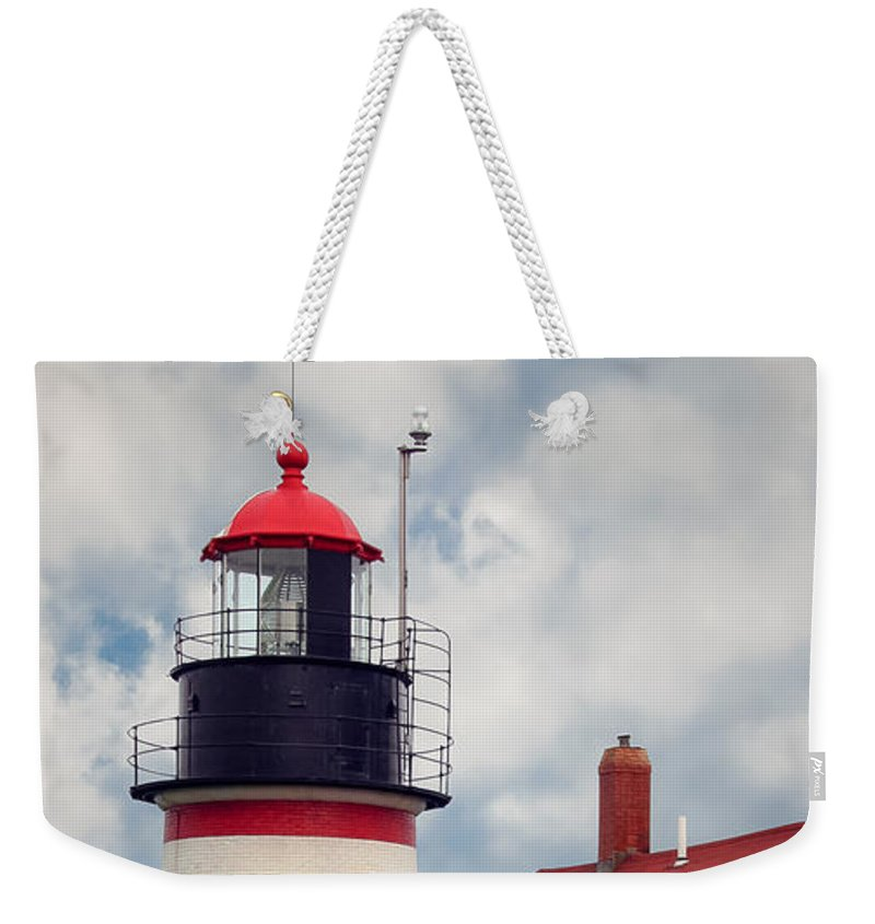 West Quoddy Lighthouse Weekender Tote Bag featuring the photograph Quoddy Lighthouse Afternoon by Brenda Giasson