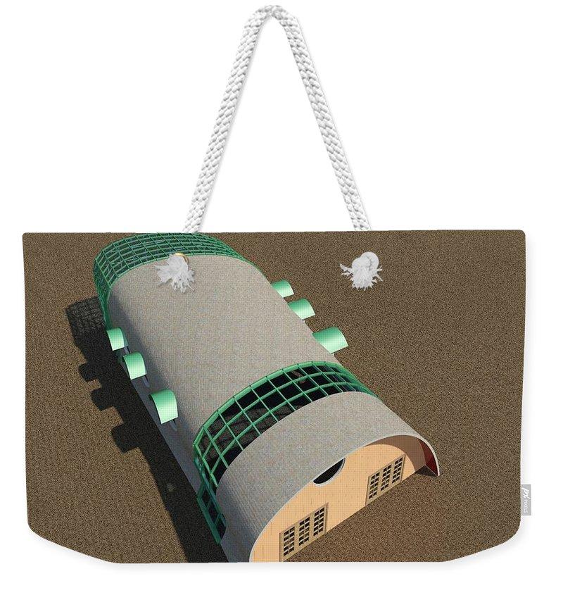 Building Weekender Tote Bag featuring the digital art Quonset Twenty Ten by Ron Bissett