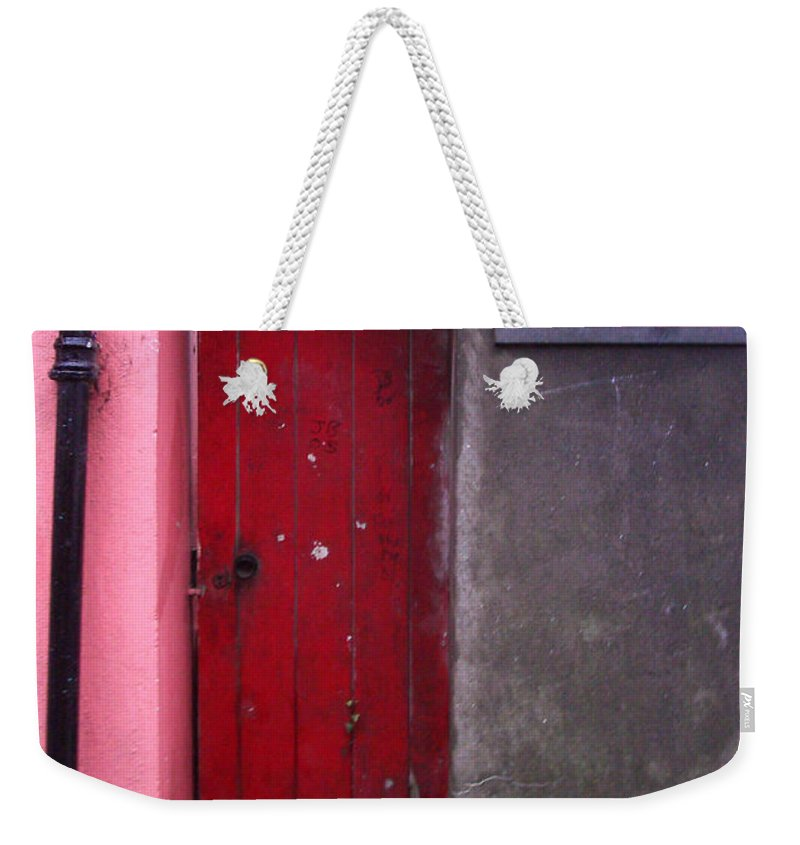 Red Weekender Tote Bag featuring the photograph R. O. Keeffee And Sons by Tim Nyberg