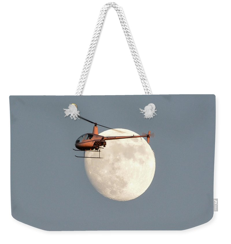 Robinson Weekender Tote Bag featuring the photograph R22 On The Moon by Matt Abrams
