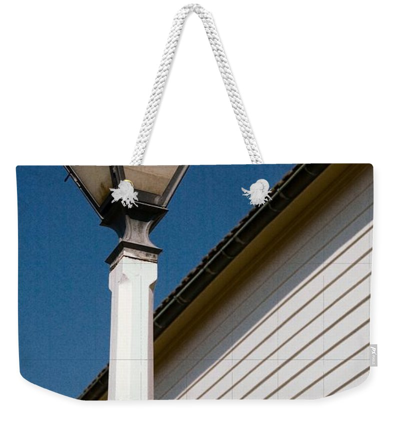 Race St Weekender Tote Bag featuring the photograph Race St Old Salem by Bob Pardue