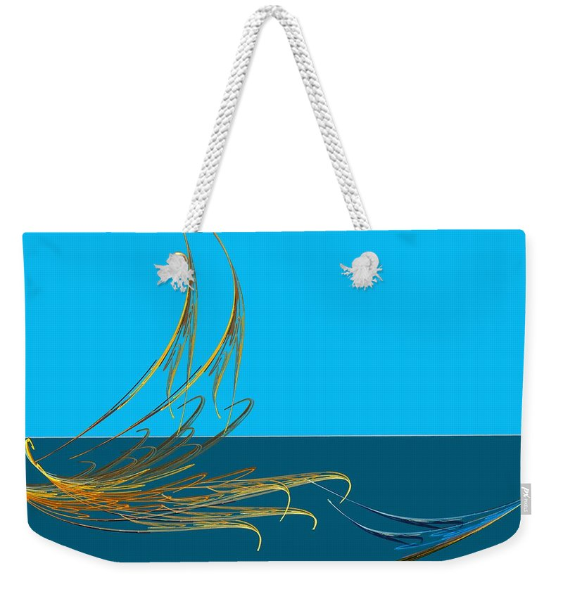 Fine Art Weekender Tote Bag featuring the digital art Racers by David Lane