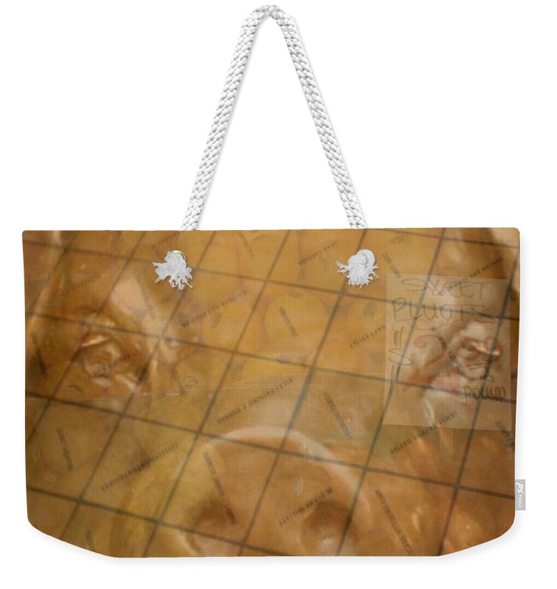 Seattle Weekender Tote Bag featuring the photograph Rachael And The Market Tiles by Tim Allen