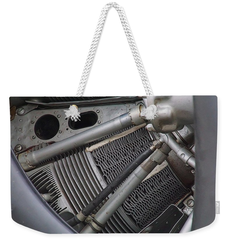 Radial Engine Weekender Tote Bag featuring the photograph Radial Power by Alan Hutchins