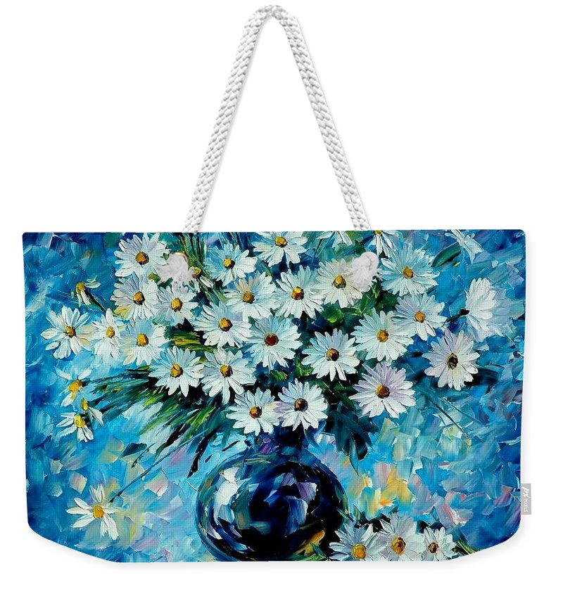 Floral Weekender Tote Bag featuring the painting Radiance by Leonid Afremov