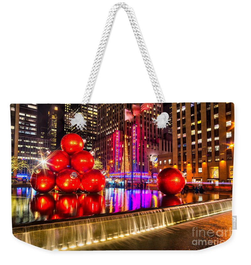 New Weekender Tote Bag featuring the photograph Radio City Music Hall - New York City Usa by Luciano Mortula