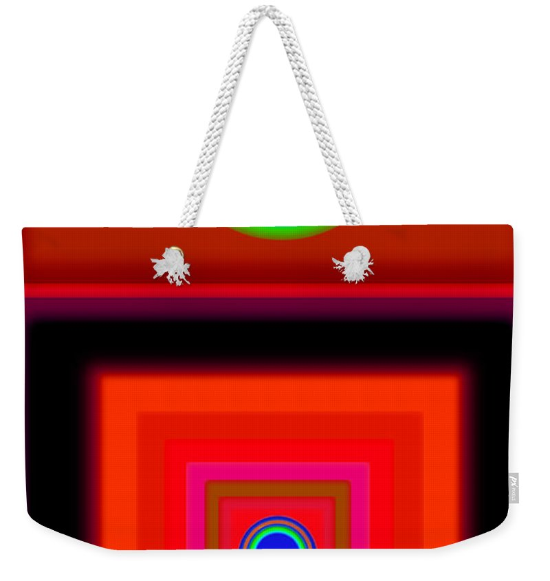Classical Weekender Tote Bag featuring the digital art Radio Palladio by Charles Stuart