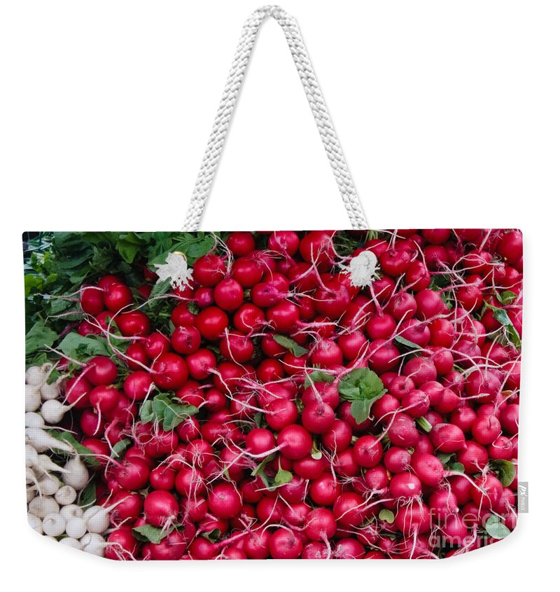 Radish Weekender Tote Bag featuring the photograph Radishes by Thomas Marchessault
