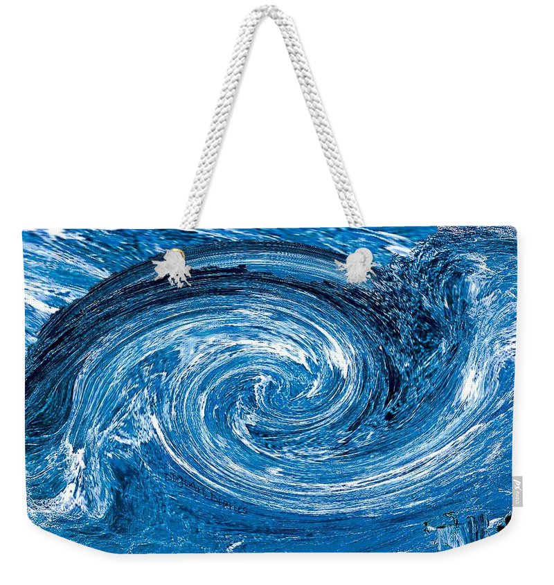 River Weekender Tote Bag featuring the photograph Raging River by DigiArt Diaries by Vicky B Fuller