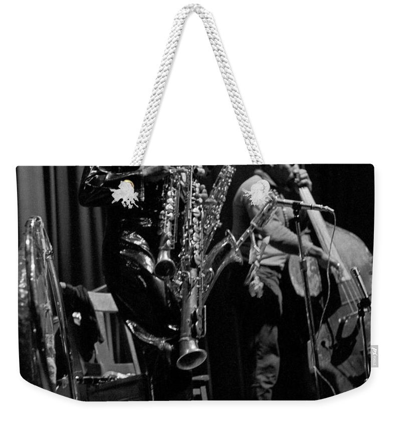 Rahsaan Roland Kirk Weekender Tote Bag featuring the photograph Rahsaan Roland Kirk 1 by Lee Santa