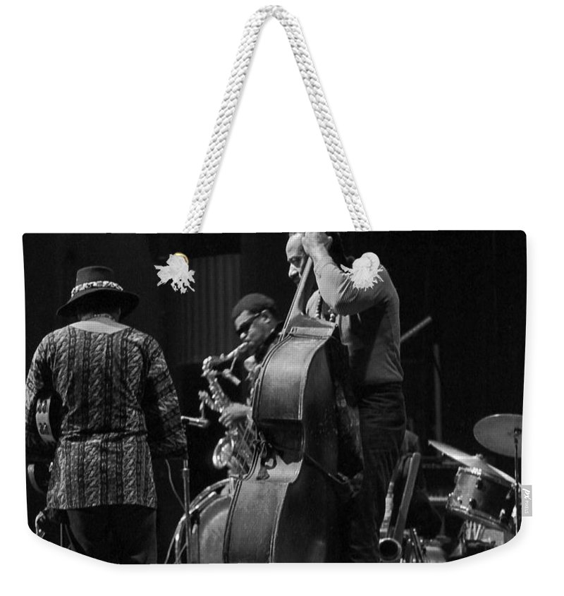 Rahsaan Roland Kirk Weekender Tote Bag featuring the photograph Rahsaan Roland Kirk 2 by Lee Santa
