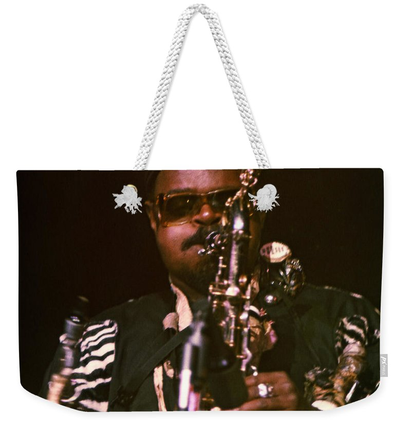 Rahsaan Roland Kirk Weekender Tote Bag featuring the photograph Rahsaan Roland Kirk 3 by Lee Santa