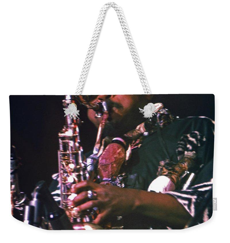 Rahsaan Roland Kirk Weekender Tote Bag featuring the photograph Rahsaan Roland Kirk 4 by Lee Santa
