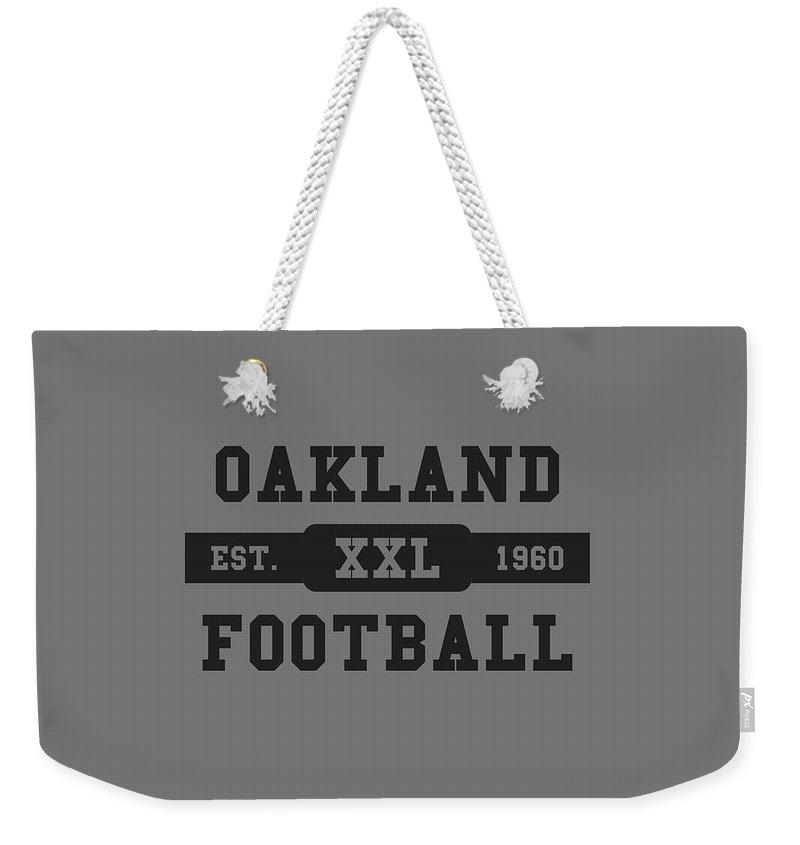 Raiders Weekender Tote Bag featuring the photograph Raiders Retro Shirt by Joe Hamilton