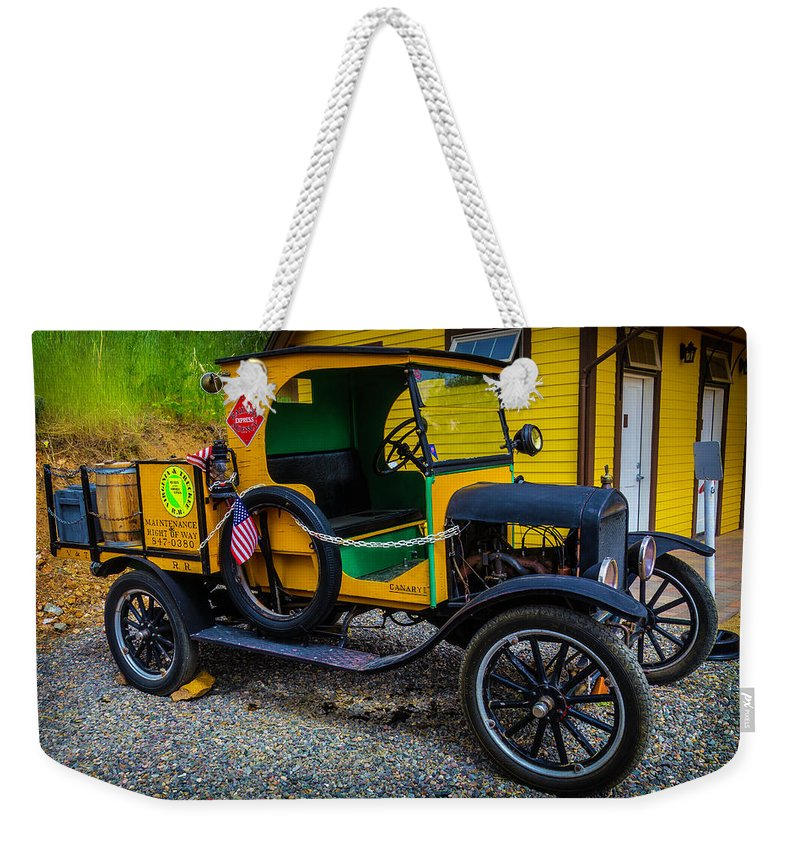 Railway Maintenance Weekender Tote Bag featuring the photograph Railway Maintenance Truck by Garry Gay