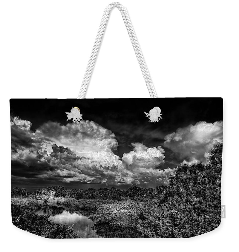 Central Weekender Tote Bag featuring the photograph Rain And Lighting by Marvin Spates