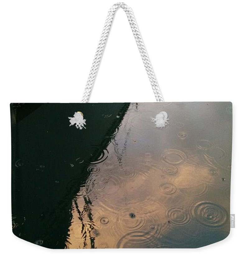 Weekender Tote Bag featuring the photograph Rain by Maria Verdicchio