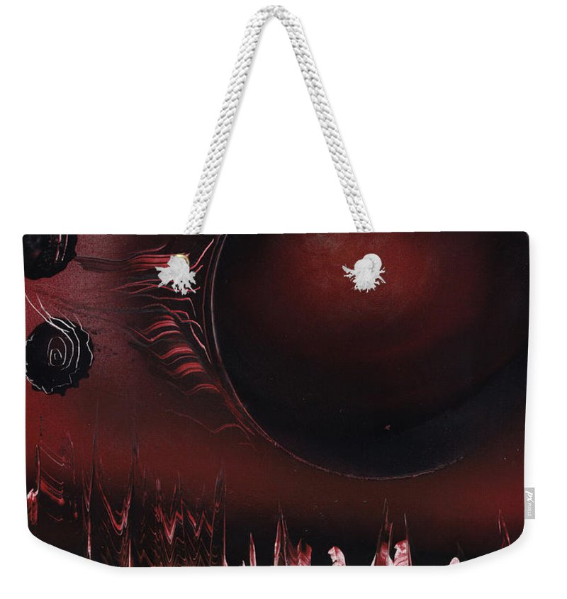 Rose Weekender Tote Bag featuring the painting Rain Of Roses by Jason Girard