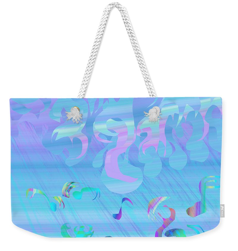 Abstract Weekender Tote Bag featuring the painting Rain Of Smiling by Victor Vosen