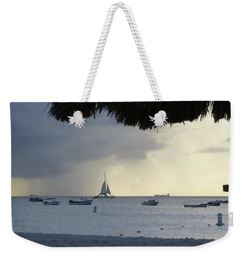 Ocean Weekender Tote Bag featuring the photograph Rain by Sandra Bourret