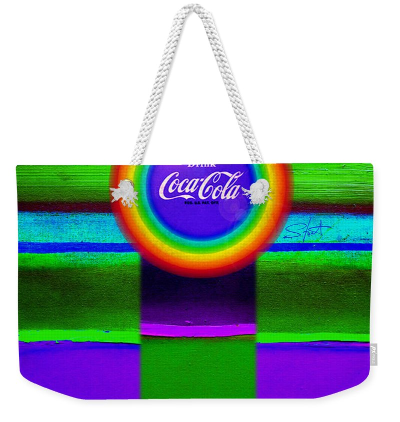 Violet Weekender Tote Bag featuring the painting Rainbow by Charles Stuart