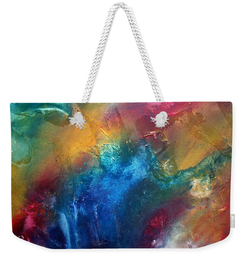 Wall Weekender Tote Bag featuring the painting Rainbow Dreams II By Madart by Megan Duncanson