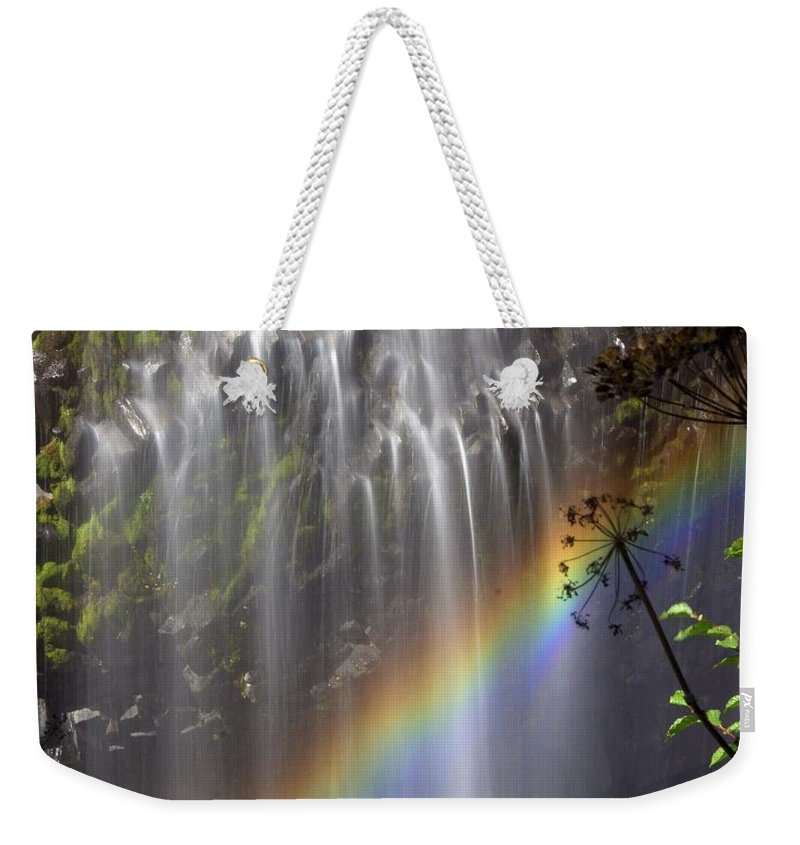 Waterfall Weekender Tote Bag featuring the photograph Rainbow Falls by Marty Koch