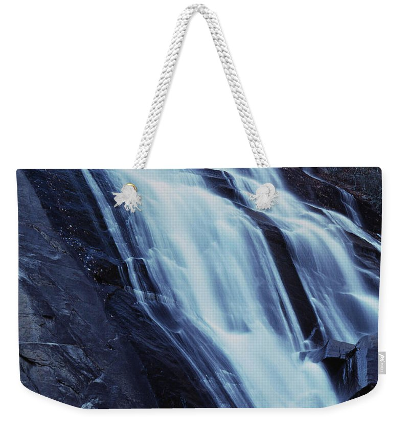 Waterfall Weekender Tote Bag featuring the photograph Rainbow Falls by Richard Rizzo