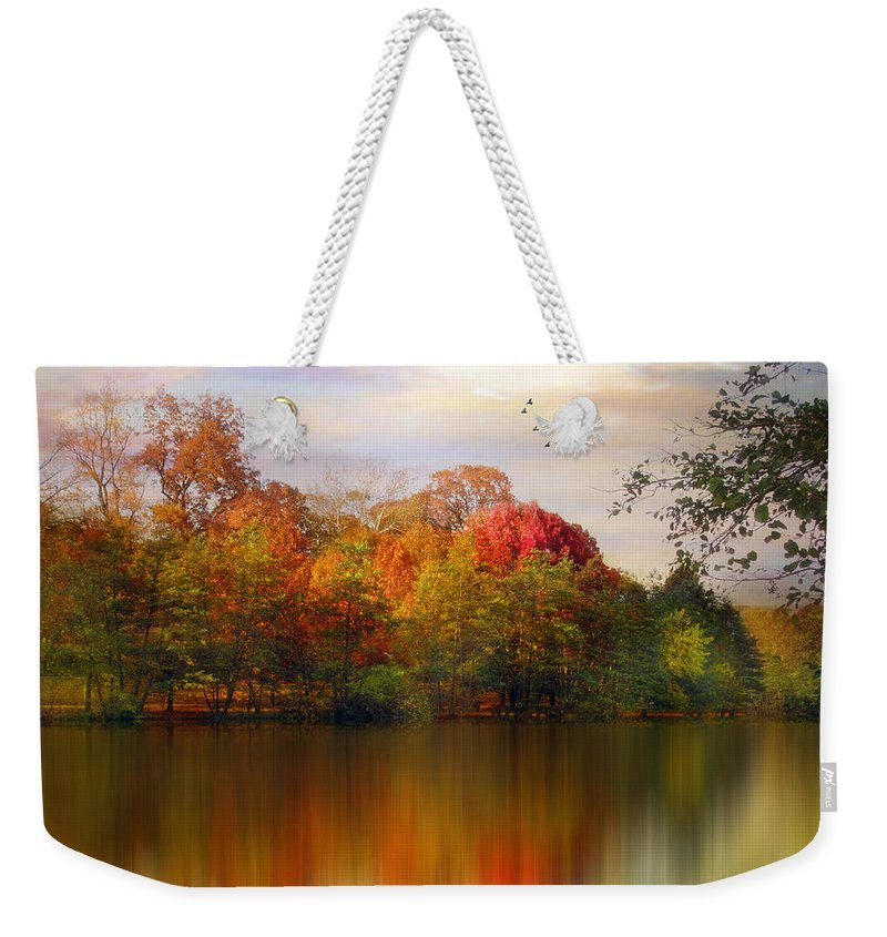 Pond Weekender Tote Bag featuring the photograph Rainbow River by Jessica Jenney