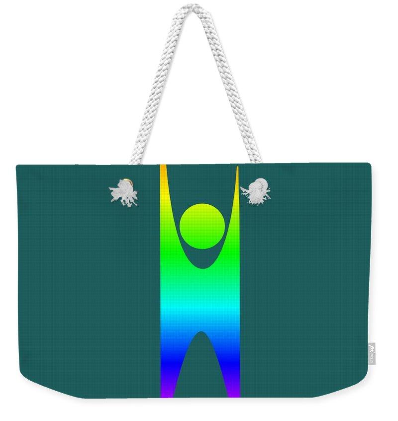 Rainbow Secular Humanism Symbol Weekender Tote Bag For Sale By
